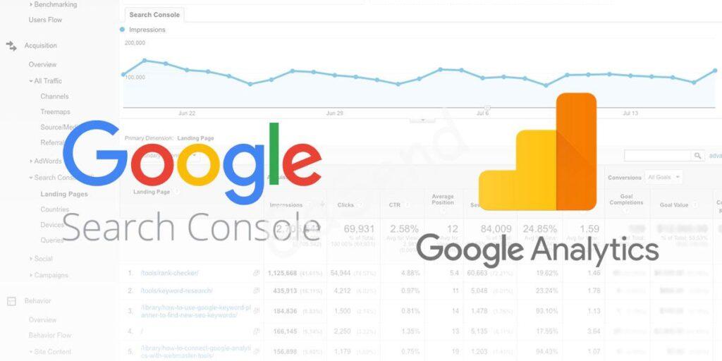 google analitics console 1024x512 - Создание сайтов в Петропавловске