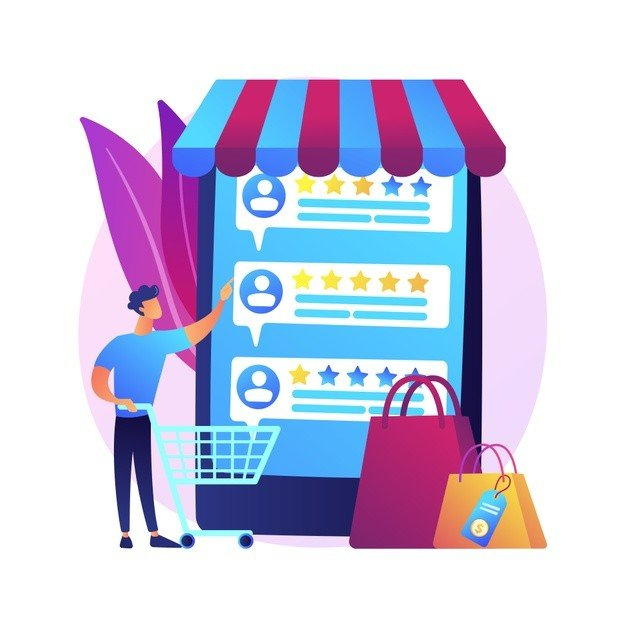 user rating feedback customer reviews cartoon web icon e commerce online shopping internet buying trust metrics top rated product 335657 778 - Создание сайтов в Усть-Каменогорске